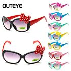 Kids Girls Boy Anti UV Eyeglasses Glasses Toddler Baby Cartoon Bow Sunglasses YG