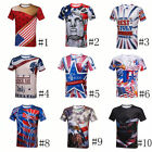 US Independence Day 3D Print Men Women Blouse Short Sleeve Graphic Tee Shirt