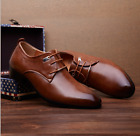 2017 Men's Casual Pointed Leather Lace Up Wedding Formal Dress Oxfords Shoes
