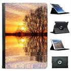 Dawn Breaking By Side Of Lake Calm Water Reflections Leather Case For iPad Mini
