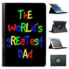 The World's Greatest Dad Fathers Day Birthday Gift Leather Case For iPad Mini