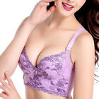 New Women Lace Embroidery Bra Push Up Padded Brassiere Lingerie Underwire