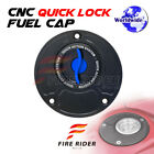 FRW BK BU CNC Quick Lock Fuel Cap For Kawasaki ZX 10R 04-05 04 05