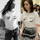 Fashion Women Casual Loose Fit Short Sleeve Print T-Shirt Tops Blouse Summer Tee