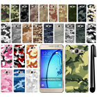 For Samsung Galaxy On5 G550 G500 Camo Design HARD Back Case Phone Cover + Pen