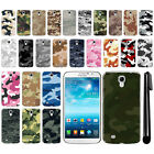 For Samsung Galaxy Mega 6.3 I527 I9200 Camo Design HARD Back Case Cover + Pen