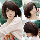 Natural Bob Hair Short Straight Ladies Womens Full Wig Daily Costume Party Wig