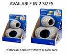 AQUATIC STACKABLE GRANITE STONE HIDE AWAY TROPICAL COLD WATER TANK DECOR 2 SIZES