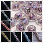 20pcs 12x9mm Oblate Ellipsoid Lampwork Glass Charms Loose Spacer Beads