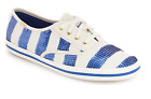 Womens Kate Spade Keds Kicks Colbat Blue Sequin Stripe Sneakers NIB Nautical