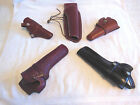Gun Holsters-Leather-Right Hand-Various Brands-Your Choice From Draw Down Menu