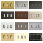 Varilight Decorative Screwless 3 Gang 10A 1 or 2 Way Rocker Switch on Twin Plate