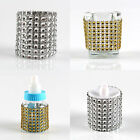 50PCS Rhinestone Napkin Ring Diamond Mesh Wrap Chair Sash Wedding Party Decor