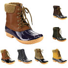 Women Lady Lace Up Fur Ankle Rain Snow Winter Boots Booties Heel Shoes Antiskid