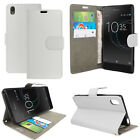 For Sony Xperia L1 - Wallet Leather Case Flip Book Case Cover + Screen Protector