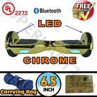 "UL 2272 6.5"" Self Balancing 2 Wheel Electric Scooter Hoverboard LED Chrome"