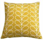 "CUSHION COVER made in orla LINEAR STEM fabric dandelion yellow 16""-24"" zip kiely"