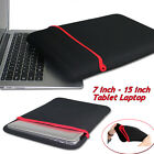 Universal 7inch-15inch Laptop Notebook Case Bag For Folio Macbook Pro Black Bag