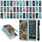 For HTC Desire 530 630 Hybrid Bumper Shockproof Hard TPU Case Cover + Pen