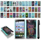For ZTE Lever LTE Z936L Hybrid Bumper Shockproof Hard TPU Case Cover + Pen