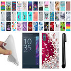 For Sony Xperia XZ F8331 Various Design TPU SILICONE Protective Case Cover + Pen