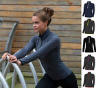 AWDis Ladies Girls Womens Half Zip Sweat Top Jacket - Running Fitness Yoga Gym