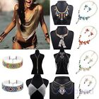 Women Pendant Chain Crystal Choker Chunky Statement Bib Necklace Party Club Gift