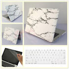 "3in1 White Marble Griotte Matte Hard Case for MacBook Air Pro 11"" 13"" 15""+Retina"