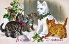 Crazy Quilt Block Vintage Christmas Cats Multi Szs FrEE ShiP WoRld WiDE (C20