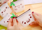 Mini Cartoon Face Expression Silicone Wallet Jelly Coin Money Purse Bag Girls