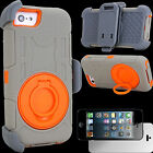 For Apple iPhone 5C Rugged Heavy Duty Case + Holster Clip Ring Stand Shockproof