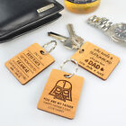 Personalised Favours Happy Father's Day Gift - Personalized Keychain Step Dad