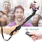 Extendable Selfie Stick Monopod + Bluetooth Remote Shutter For iPhone Samsung LG