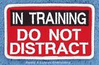 IN TRAINING DO NOT DISTRACT SERVICE DOG PATCH 2.5X4 IN Danny & LuAnns Embroidery