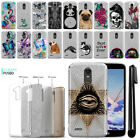 For LG Stylo 3 Plus Stylo 3 Stylus 3 LS777 Sparkling Silver TPU Case Cover + Pen