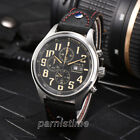 43mm Parnis Men Chronograph Watch MIYOTA OS00 Quartz PVD Case Date Day Indicator