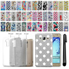 For Samsung Galaxy On5 G550 G500 Slim Sparkling Silver TPU Case Cover + Pen
