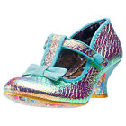 Irregular Choice Lazy River Iridiscent Womens Shoes Green Metalic New Shoes