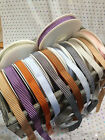 VINTAGE CHEVRONS **textured** woven Ribbon - 12mm - 7 shades & var lengths NEW