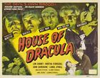 """HOUSE OF DRACULA 1950 Wolf Man + = Movie Lobby Card Poster = 7 SIZES 19"""" - 36"""""""