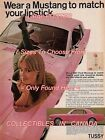 """FORD MUSTANG 1966 = Pink Car TUSSY Lipstick CONTEST = POSTER 7 SIZES 19"""" - 36"""""""