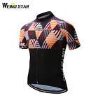 Team Men's Cycling Jersey Top White Bicycle Clothing Clothes Summer Bike Shirts