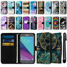 For Samsung Galaxy J3 Emerge J327 2nd Gen Slim Canvas Wallet Case Cover + Pen