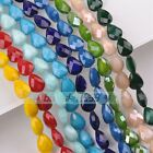 5pcs 18mm Big Teardrop Faceted Glass Loose Spacer Beads DIY Jewelry Findings