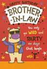 funny / humorous BROTHER-IN-LAW happy birthday card - 2 x cards to choose from!