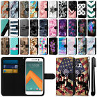 For HTC 10 One M10 Ultra Slim Canvas Wallet Pouch Case Cover Credit Card + Pen
