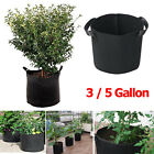 Fabric Grow Bags 3 / 5 Gallon Containers Garden Flower Plant Pots Root Planter