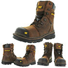 "CAT Caterpillar Mortise 8"" Men's Composite Toe Leather Work Boots"