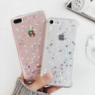 Bling Glitter Sparkle Rubber Soft Clear Silicone Case Cover For iPhone 7 6S Plus