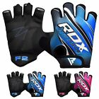 RDX Weight Lifting Gloves Gym Body Building Training Cycling Fitness WorkOut  F2